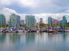 Vancouver (euanwhite) Tags: photochallenge2016 mirror reflection water vancouver skyline boats harbour harbor stormy condos