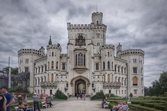 Hlubok Castle, Czech Republic (beyondhue) Tags: hlubok castle chateau czech republic architecture beyondhue cloudy summer tower entrance