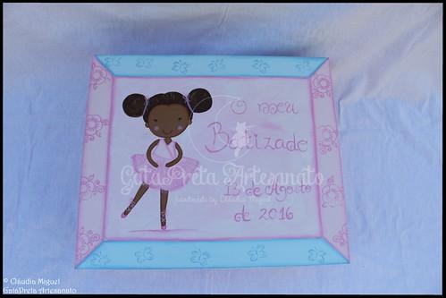 """Caixa grande de batizado """"Maravilhosa Bailarina"""""""