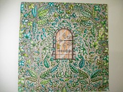 Gate (Lynne M. B.) Tags: coloringadults coloring coloringbook coloredpencils drawing art illustration prismacolor secretgardencoloringbook johannabasford gate leaves