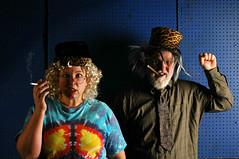 Studio d'Xavier in the year 2038 (Studio d'Xavier) Tags: werehere hatsnwigs studiodxavier2038 kim xavier old elderly aged 365 october62016 280366 timetravel future