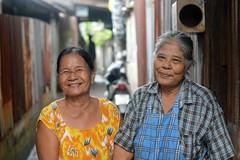 sweet faced grandmas (the foreign photographer - ) Tags: aug282016nikon two sweet faced grandmas khlong bang bua portraits bangkhen bangkok thailand nikon d3200