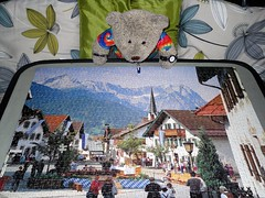 Garmish-Fingummyjig (pefkosmad) Tags: jigsaw puzzle leisure hobby pastime complete 1000pieces tedricstudmuffin teddy ted bear stuffed soft plush toy cute fluffy cuddly