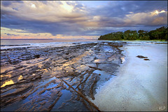 Patchwork (katepedley) Tags: rock geology sedimentary canon 5d 1740mm tripod gndfilter polariser australia nsw newsouthwales new south wales jervis bay huskisson shoalhaven joints reflection