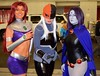 DSC_0113 (Randsom) Tags: nycc 2016 newyorkcomiccon nycomiccon javitscenter october nyc newyorkcity cosplay costume fun comicbooks comicconvention dccomics groupshot group team people teentitans titans youngjustice teen heroine superheroine female deathstroke raven starfire bodypaint wig spandex mask