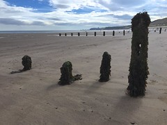 Wiped calm as sea-levelled sands' (Nanny Bean) Tags: sandsend northyorkshire beach sand groynes lowtide