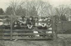 """""""Sunday morning"""" (sctatepdx) Tags: vernacular oxfordohio ohio edwardian thewesterncollegeforwomen antiquefence fence edwardianwomen"""
