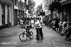 Let's go Buddy (DeGrandDuke) Tags: luxembourg street buddy bike bicycle luxembourgcity nikon streetphotography blackandwhite