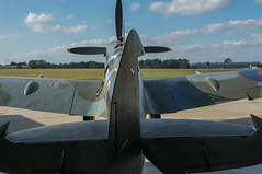 Tail View, Supermarine Spitfire LF Mk XVIE, RW382, Heritage Hangar, Biggin Hill (Peter Cook UK) Tags: supermarine rw382 e heritage lf xvie xvi biggin spitfire hill 2016 kent mk hangar
