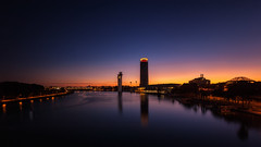 Ultimas Luces sobre el Guadalquivir... Explored (16/10/2016) (protsalke) Tags: sunset lights beautiful colors sky sevilla dusk longexposure 9stopsnd water city cityscape urban bluehour reflections architecture