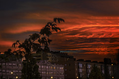 """Burning"" (MrCarlos21) Tags: madrid espaa nikon d3300 sky cielo light red orange rojo naranja tonos tune hue atardecer"