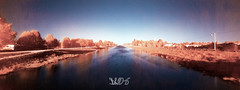 Panorama IR sul Bacchiglione da Ponte IV Martiri, Padova (Davide Anselmi) Tags: davideanselmi 2016 padova ir acqua bacchiglione fiume infrared infrarossi infrarosso panorama ponte4martiri ponteivmartiri pontequattromartiri