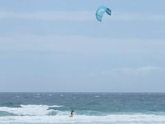 Kitesurfer gets airborne (Tabitha275) Tags: kitesurfing kitesurfer kingscliff tweedcoast australia beach outdoor ocean sea wave