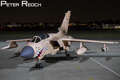 ZG750 / Royal Air Force / Tornado GR4 (Peter Reoch Photography) Tags: zg750 royal air force royalairforce raf panavia tornado gr gr4 gr1 swingwing strike bomber jet combat military armed forces aviation fastjet british uk united kingdom europe european aircraft northolt night photoshoot nightshoot photo shoot nocturnal dark 9 9b squadron marham flying operation granby op desert storm iraq iraqi kuwait 1991 conflict war pink gulf pinky sharkmouth special colours 25th anniversary tribute