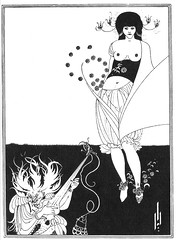 Aubrey Beardsley - The Stomach Dance from Salome (ghost archives) Tags: aubrey beardsley drawing illustration salome belly dance stomach