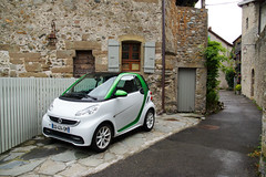 Electric Smart Car, Yvoire, France (JL1967) Tags: 2016 france sigma1770 smartcar sonya77 yvoire auvergnerhnealpes fr electric