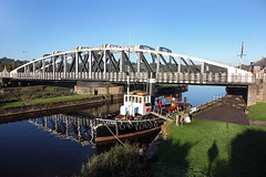 'Kerne' Acton Bridge 2nd October 2016 (John Eyres) Tags: kerne is berthed east side a49 swing bridge accommodate daniel adamson weekend steam gathering although ideal for photographs it was too tempting come back morning while light right taken with pole weaver