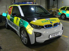 5003 - BMW Demonstrator - YG16 RYY - 001 (Call the Cops 999) Tags: uk gb united kingdom great britain england 999 112 emergency service services vehicle vehicles ambulance nhs national health trust north west rochdale station bmw i3 demonstrator yg61 ryv