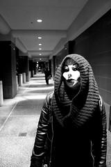 The Sanctuary of Silence (Bart D. Frescura) Tags: masked maskedportrait street oakland oaklandcalifornia eastbay downtown blackandwhite bdf bw bartdfrescura