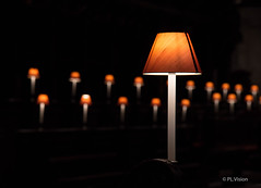 Choir lamps (plvision) Tags: london londres stpaul cathedral church cathdrale glise greatfire350 greatfireoflondon night stpaulslater stpaulscathedral architecture choir lamp orange details dtails chorale