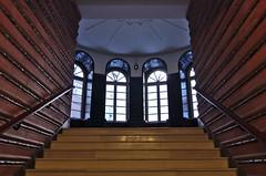 Chilehaus (explored 2016-10-06) (Juliett09) Tags: pentaxk5 sigma18250 darktable hamburg chilehaus stairs