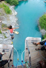 """First time Bungee Jumping at the Kawarau bridge in Queenstown, New Zealand. My own birthday´s present :-) March 2010 #itravelanddance • <a style=""""font-size:0.8em;"""" href=""""http://www.flickr.com/photos/147943715@N05/30075273651/"""" target=""""_blank"""">View on Flickr</a>"""