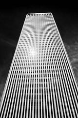 Spotlight (brev99) Tags: d7100 topazdetail topazdenoise viewnx2 cacorrection silverefex colorefex tower tulsa reflection blackandwhite sigma185028hsm