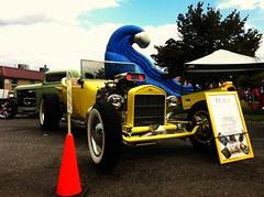 Little Yellow Hot Rod (The_Flying_Thunderbird) Tags: car hotrod carshow carphotography iphone4