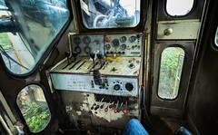 Drill Cabin (Photons of Days Past) Tags: ingersoll rand drill rig cabin controls dial gauges switches levers grease canoneos6d