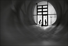 F_DSC0008-BW-2-Taichung City-Nikon D800E-Nikkor 28-300mm-May Lee  (May-margy) Tags: maymargy  bw       streetviewphotographytaiwan  linesformandlightandshadows  mylensandmyimagination  naturalcoincidencethrumylens  blur  bokeh    taiwan repofchina humaningeometry fdsc0008bw2 portrait door glass  silhouette hall corridor taichungcity nikond800e nikkor28300mm maylee