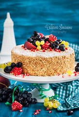 Homemade Honey Cake (Katty-S) Tags: food cake baking bake bakery honey homemade birthday sweet dessert fruit fruits berry russian