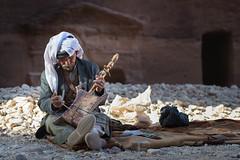 Rababa player - Petra, Jordan (M. Khatib) Tags: beduin rababa petra jordan portrait oldman music instrument desert heritage culture unesco