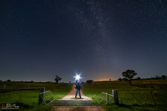 The Dark Road. (Bill Thoo) Tags: thedarkroad longexposure milkyway obley nsw australia sony a7rii samyang 14mm night stars landscape rural farm bush country travel road explorer ngc