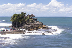 Tanah Lot 3 (pradeep javedar) Tags: canon600d canonphotography landscape seascape tanahlot bali indonesia travel explore temple beach sea marine sand water rock formations cove cliff blue clearwater bluesky nature natural beauty yabbadabbadoo