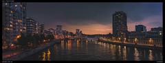Nightfall along the Meuse (Falcdragon) Tags: lige belgium nightfall night river meuse sony sonya7alpha tamron35mmf18sp water sky colour lights city cityscape skyline cityskyline evening