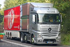 Mercedes Actros Nestle YJ64 EPA (SR Photos Torksey) Tags: truck transport haulage hgv lorry lgv road logistics commercial vehicle freight traffic mercedes actros nestle