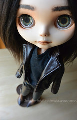 Frankie's new cowboy boots (ankanka) Tags: blythe triad toys boots leather jacket custom clearlan jeans azone pure nemo shooes