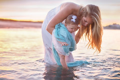 dip those toes (BelliniPortraits) Tags: mother baby motherhood babyportraits sunset ocean water pastels backlit canon love belliniportraits bellinipics bostonbabyphotographer bostonbabyportraits bostonfamilyportraits