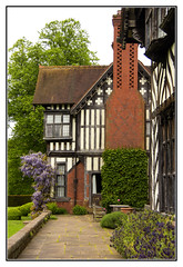 Ornate Patterns on the Chimney (Audrey A Jackson) Tags: canon60d wightwickmanor wolverhampton national trust history house nationaltrust windows architecture doors chimneys pathway trees flowers wisteria table chairs shrubs 1001nightsmagiccity