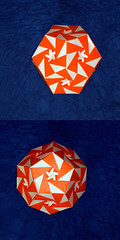 Oleo (Aldos Marcell) (De Rode Olifant - away for a while) Tags: oleo origami aldosmarcell dodecahedron modular square tutorial diagrams paper paperfolding marjansmeijsters 3d