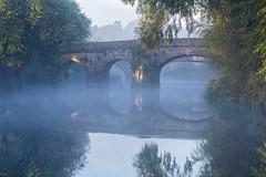 Misty Bridge (jactoll) Tags: pershore worcestershire mist misty river avon riveravon rivermist reflections bridge light landscape sony a6000 zeiss 70200mmf4 jactoll