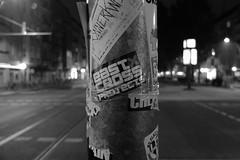 Strasse (Strange Artifact) Tags: fuji fujifilm x20 oocjpeg black white yellowfilter berlin warschauerstrasse street adverts