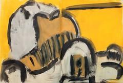 von der Gelben Stunde gesehen (raumoberbayern) Tags: gelb yellow abstract abstrakt malerei acryl acrylic skizzenbuch sketchbook robbbilder painting