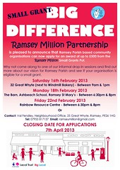 Ramsey small grants poster Jan 2013 (Big Local) Tags: poster flyer small invitation posters leaflet publicity invite flyers grants ramsey leaflets biglocal localtrust