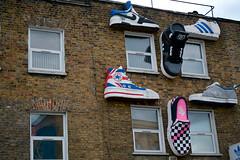 Shoes ... (lorenzoviolone) Tags: city uk trip travel sky cloud building london shop clouds towerbridge buildings river store nice nikon raw camden tourists camdentown tamigi wolrd camdentownlondon d3100 nikond3100