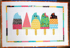 Popsicles Doll Quilt (VeronicaMade) Tags: quilted popsicle paperpieced pinkpenguin