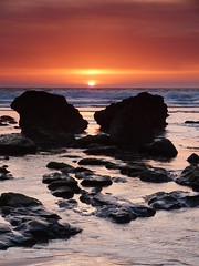 porthtowan sunset (b,scarlett) Tags: sunset cornwall 09 reverse hitech cornish porthtowan