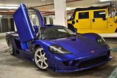 Saleen S7 Detail (aowheels) Tags: blue detail ford america nikon paint florida miami midnight shield carbon fiber protection supercar polished saleen s7 detailing swissvax paintcorrection aowheels