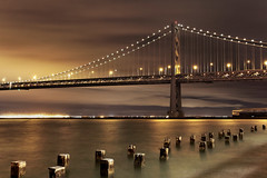 S T E E L (Andrew Louie Photography) Tags: life camera bridge night canon photography bay san francisco dusk steel celebration commute