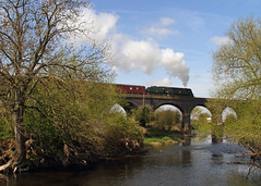 Loughborough Viaduct (Treflyn) Tags: nottingham west train during photo pacific near country great north central rail railway loco tunnel class steam viaduct east stanford british locomotive railways russ freight loughborough soar leake charter wadebridge gcr hillier 462 bulleid 34007 gcrn